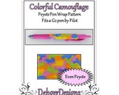 Bead Pattern Peyote(Pen Wrap/Cover)-Colorful Camouflage