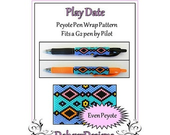 Bead Pattern Peyote(Pen Wrap/Cover)-Play Date