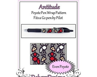 Bead Pattern Peyote(Pen Wrap/Cover)-Antitude