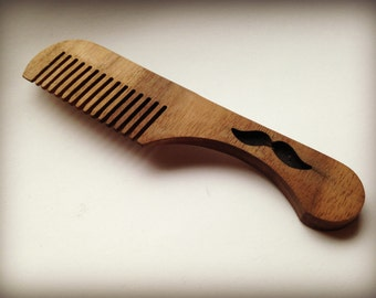Mustache Beard comb wood