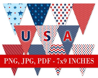 4th of july bunting Printable bunting clipart Patriotic bunting patriotic party Bunting clip art 4th of july Party banner Party printables