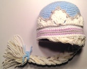 Queen Elsa from Frozen Blue Hat With Braid