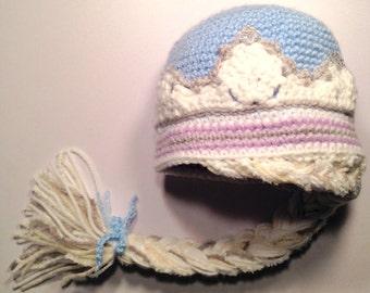 Queen Elsa Hat, Elsa Hat With Braid, Frozen Hat, Frozen Elsa Hat, Elsa Hat, Frozen Movie Hat, Queen Elsa, Elsa Frozen Hat, Girls Elsa Hat