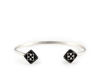 Art Deco Bracelet | Sterling Silver Cuff | Erte Jewelry