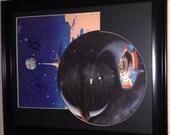 Jeff Lynne-Bev Bevan Autographed framed 1981 ELO Time Record Picture Disc LP COA