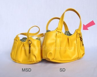 Yellow Emmaline Bag-- SD 1/3 scale BJD PU Handbag