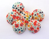 Pretty Magnets  - Pushpins - Thumbtacks / Phoebe / Liberty of London Fabric / Office Decor - Hostess Gift - Seating Chart