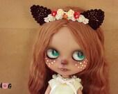 Blythe Cat  Flowers headband
