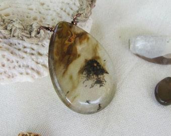 Earthy Art Glass Hemp Necklace