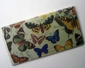 Checkbook Cover in Colorful Butterflies