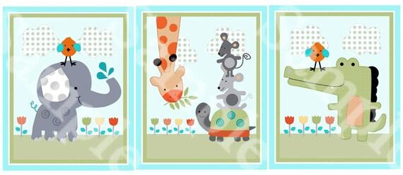Set Of 3 Yoo Hoo Animals Giraffe Elephant Turtles Alligator
