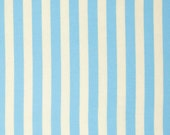 Striped Fabric by the Yard Tula Pink Elizabeth Tent Stripe in Sky Cotton Fabric One Yard