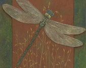 4 Dragonfly Cards