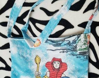 He-man Teela Greyskull vintage style tote side bag by felices happy designs