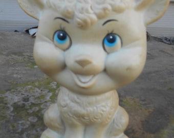 Vintage Lamb squeaky toy