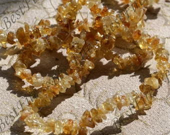 35inch Single citrine stone nugget ,stone nugget beads, citrine loose semi-precious stone beads,loose strands