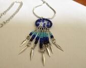 Royal Blue Dream Catcher Necklace