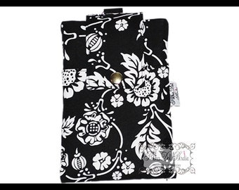 Black & White Vine Zipper Cell Phone Holder, Wallet, iPhone Case, Samsung Case, Droid, Phone Case