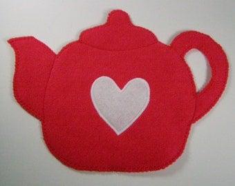 Teapot Felt Hot Pad, choice of color
