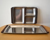 RESERVED FOR EY  Mid Century Scanli Stainless Steel Serving Trays Made in Denmark