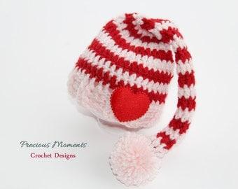 Valentine's Day Baby Hat, Newborn Valentine's Day Elf Hat, Newborn Valentine's Photo Prop, Infant Valentine Hat, Valetine's Day Elf Hat