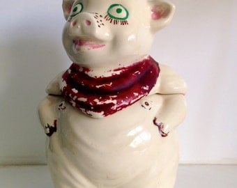 Vintage 1940 USA Shawnee Smiley The Pig Cookie Jar