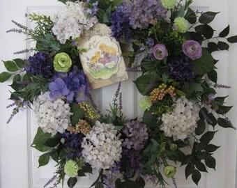 Easter Wreath, Free Shipping, Spring Wreath, Front Door Wreath, Silk Flowers Wreath, Garden Wreath, Grapevine Wreath, X-Large Wreath