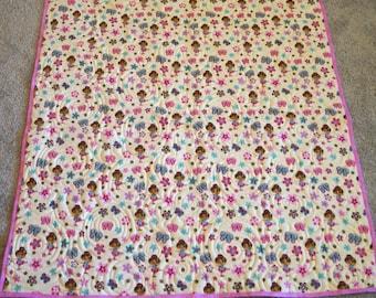 Pretty Ballerinas Flannel Quilt 41x41