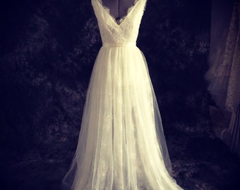 Emma-tulle and lace Wedding Dress- Made to order