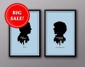 Isle of Misprint Joy Overstock Sale // SAVE 50% off All Four Modern Silhouette Cameo Prints in Blue