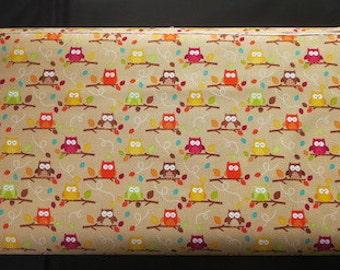 Riley Blake - Happy Harvest Friends Owl Fabric - Brown 7.99 A Yard