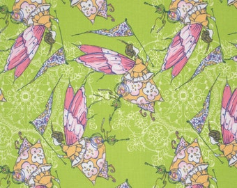 Princess Feather in Apple PWTG174 - FEATHER FLOCK by Tina Givens - Free Spirit Fabric  - By the Yard