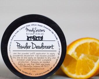Orange All Natural Deodorant - Organic Powder All Natural Body Deodorant