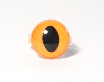 Amber Yellow Cat Eye Ring