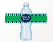Golf Water Bottle Labels - Golf Party Drink Bottle Labels by 505 Design Inc