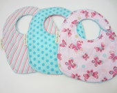 Infant Size Bib, 0-6 months, Custom Made - you pick the fabrics