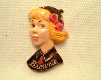 Girl Scout Brownie Pin Brooch