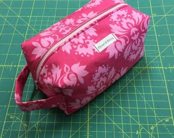 Small Dark Pink Swirly Ditty Bag