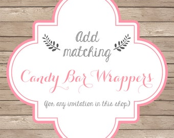 Matching Candy Bar Wrappers - Add matching candy wrappers to any design in this shop