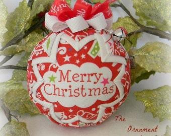 Handmade Christmas Ornament fabric ornament Merry Christmas decoration