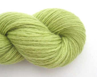 Sport Weight Cashmere Recycled Yarn, Chartreuse, Lot 070515