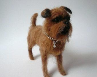 Needlefelted Griffon /Needlefelted dog'g mininature /Custom Miniature Sculpture of your dog/ OOAK