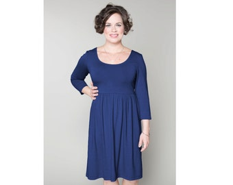 Empire Waist Dress Matte Jersey Customizable 4 Lengths Misses & Plus Sizes 2-28