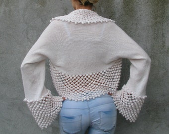 déesse de l'amour...S..M..L ... Bridal Accessories Shrugs & Boleros  white knit/crochet