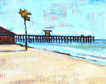 San Clemente Pier- Beach Landscape Painting
