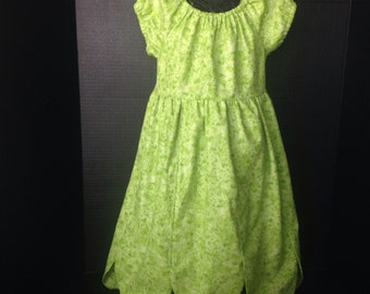 Disney Inspired Tinker Bell Boutique Peasant Dress