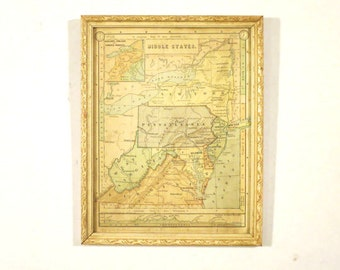 Antique Middle States Map