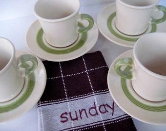 Franciscan Floral Cups, Vintage Floral Cups, Vintage Franciscan, Flower Franciscan, Floral Earthenware, Vintage Coffee Cups, Purple Flowers