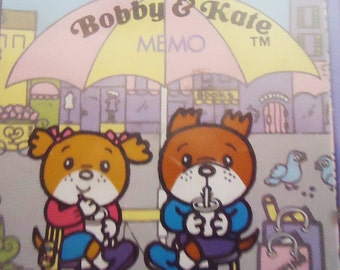 Bobby & Kate Japanese Stationery in a Box. Japan.1981.Xtra Rare