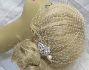 Bridal Veil and Bridal Comb  (2 Items),bridal veil,Weddings, Jewelry, Sterling Silver, Rinestone, Crystal,pearl